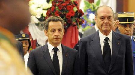 Sarkozy et Chirac aux obsèques d