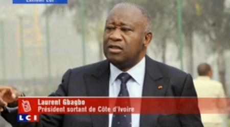 Le Président Laurent Gbagbo mardi sur la chaîne française LCI.
