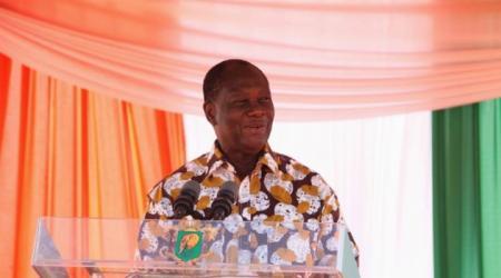 Le chef de l'Etat Alassane Ouattara, en visite dans le Zanzan.