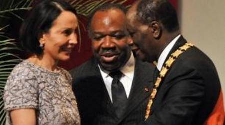 Ouattara et les Bongo. Tous maçons.