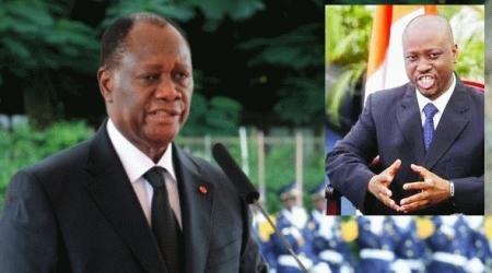 Alassane Dramane Ouattara et Guillaume Soro.