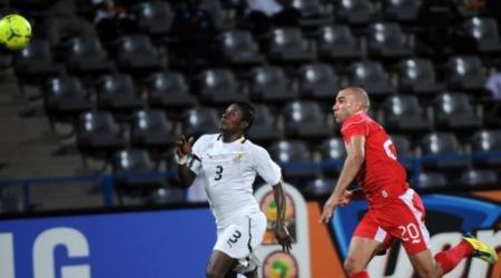 Image du match Ghana-Tunisie. De afp.