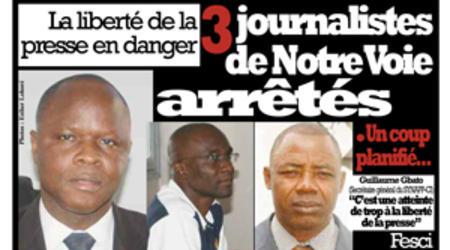 Les trois journalistes de Notre voie déférés à la MACA.
