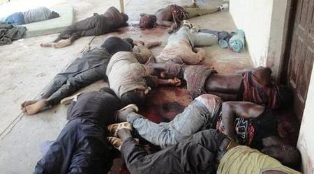 Civils massacrés à Duekoué par les FRCI.