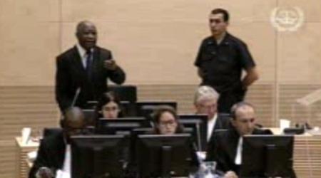 Laurent Gbagbo lors de son audience du 05 décembre 2011.