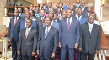 Le gouvernement Ouattara au grand complet.