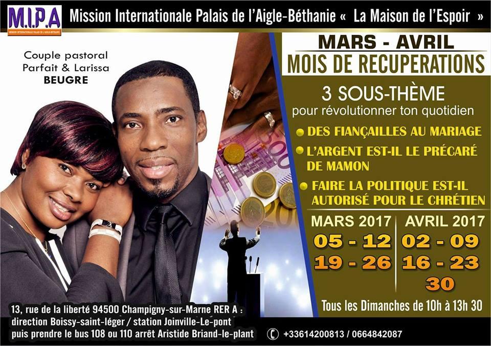 programme eglise mariage