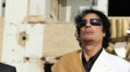 Mouamar Kadhafi, le guide libyen.