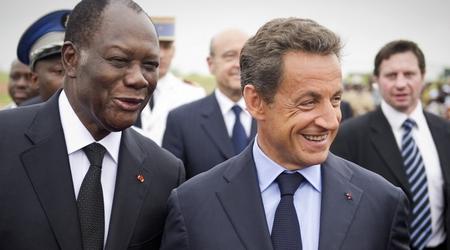 Alassane Ouattara et Nicolas Sarkozy, le 21 mai 2011 à Yamousoukro.