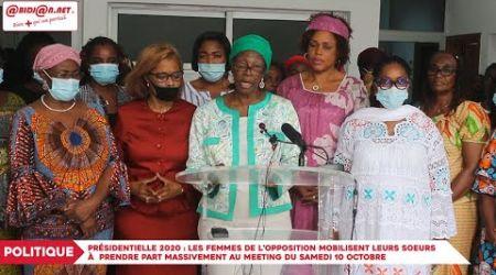 Présidentielle 2020: Les femmes de l'opposition mobilisent leurs soeurs à prendre part...