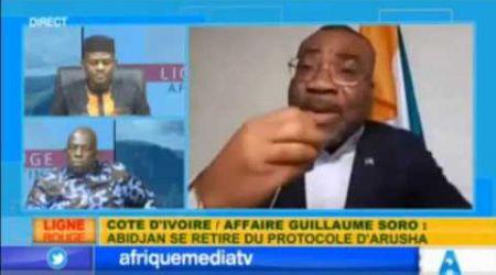 AFRIQUE MEDIA TV : LE Dr. BOGA et LE Pr. BANDA KANI ETALENT LE REGIME OUATTARA