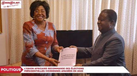 Présidentielle 2020 : L'UA fait des recommandations pour des élections apaisées en Côte d'Ivoire