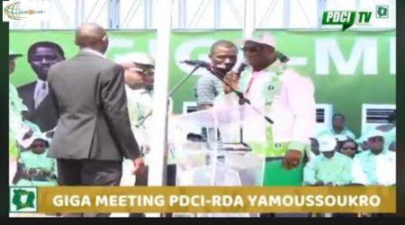 Giga meeting du PDCI-RDA à Yamoussoukro: Discours de Assoa Adou (FPI), Soro Kanigui (RACI)