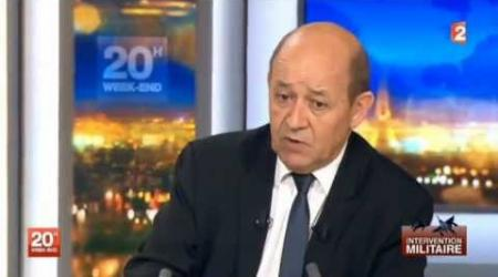 Jean-Yves Le Drian - Ministre de la Justice sur l'intervention militaire au Mali - 12 Janvier 2013