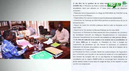 PDCI-RDA : Communiqué du PDCI RDA suite à la rencontre entre Le Pdt Bédié et le Prof  Guikahué