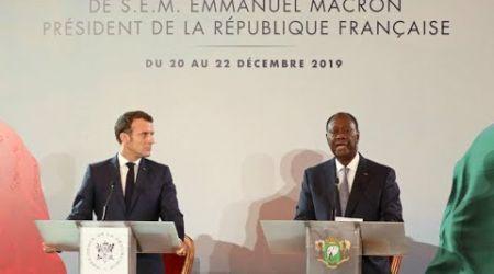 À Abidjan, Emmanuel Macron annonce la fin du franc CFA et condamne à nouveau le colonialisme
