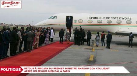 Retour à Abidjan du premier ministre Amadou Gon Coulibaly après un séjour médical à Paris