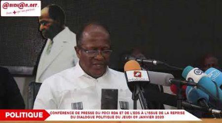 Conférence de Presse du PDCI RDA et de l'EDS à l'issue de la reprise du dialogue politique du jeud