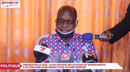 Présidentielle 2020 : Le FPI exhorte ses militants à se mobiliser massivement pour l'enrôlement