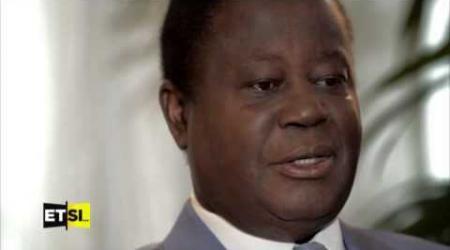 Henri Konan Bédié, president du PDCI invité de l'emission de D. Epoté sur TV5
