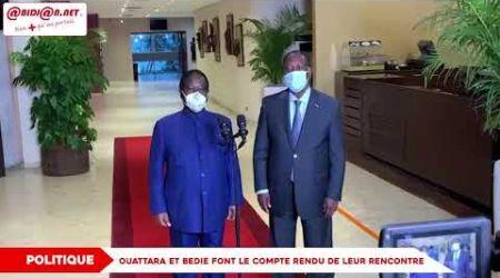Décrispation politique: Ouattara et Bedie font le point de leur rencontre