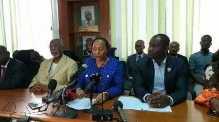 Conférence de presse des groupes parlementaires et partis politiques d'opposition
