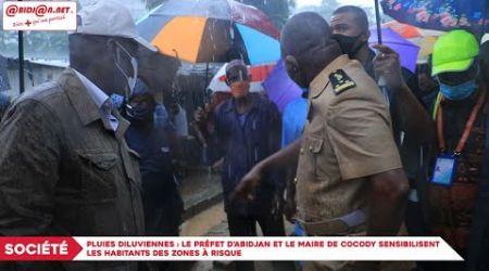 Pluies diluviennes : Le préfet d`Abidjan et le Maire de Cocody sensibilisent les habitants...