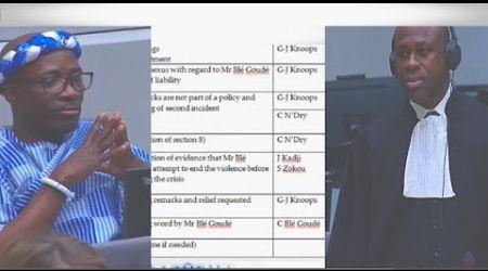 (1ÈRE PARTIE) CPI PROCÈS Laurent Gbagbo et Blé Goudé: 21 Novembre 2018