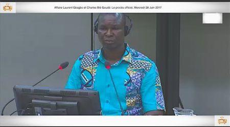 (3ÈME PARTIE) PROCÈS: Gbagbo et Blé Goudé: 28 Juin 2017, Coulibaly Joseph