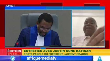 ENTRETIEN AVEC JUSTIN KONE KATINAN PORTE PAROLE DE LAURENT GBAGBO SUR AFRIQUE MEDIA
