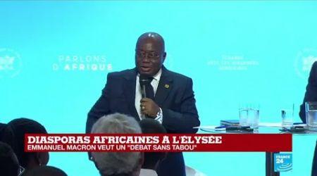 Diasporas africaines à l'Élysée : le président Ghanéen Nana Akufo-Addo prend la parole