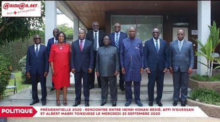 Présidentielle 2020: Rencontre entre Henri Konan Bédié, Affi N'Guessan et Albert Mabri Toikeusse