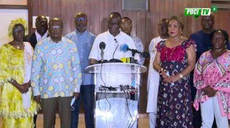 PDCI-RDA : Déclaration des plateformes et partis politiques de l'opposition ivoirienne