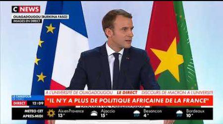 Discours complet d'Emmanuel Macron au Burkina Faso le 28/11/2017