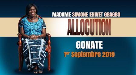 HAUT SASSANDRA 2019 : MESSAGE DE MADAME SIMONE EHIVET GBAGBO DEVANT LES POPULATIONS DE GONATE
