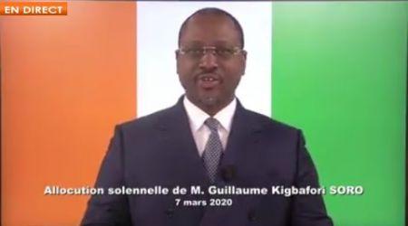 Retrait d'Alassane OUATTARA, révision de la constitution: SORO parle aux Ivoiriens