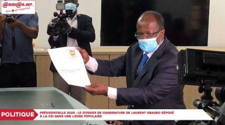 Présidentielle 2020 : le dossier de candidature de Laurent Gbagbo déposé à la CEI