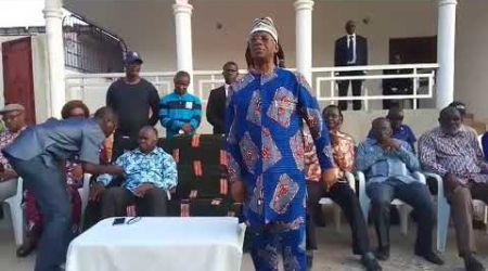 Petite Intervention du président  Sangaré Abou Drahamane devant quelques militants de  GUIGLO.
