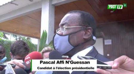 PDCI-RDA: Le Président Pascal Affi N'guessan se confie à la presse après l'incendie de sa maison