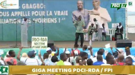GIGA MEETING DU PDCI RDA ET DU FPI POUR LA RÉCONCILIATION ET LA PAIX AU PARC DES SPORTS
