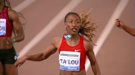 Marie-Josee Ta Lou wins 200m - Rome Diamond League 2018 [1080p]