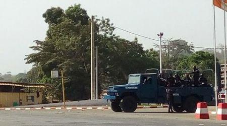 Mouvement de protestation de militaires démobilisés à Bouaké, en Côte d'Ivoire