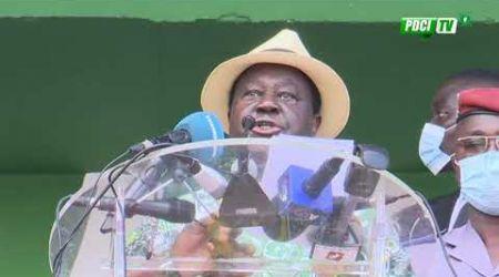 PDCI-RDA : Discours du Président Bédié au meeting de l'opposition ivoirienne au stade FHB