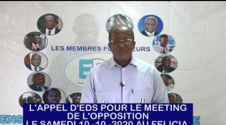 L'APPEL DE EDS POUR LE MEETING DE L'OPPOSITION LE SAMEDI 10-10-2020 AU FELICIA.