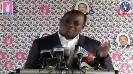 Affi N'guesan: C'est Gbagbo qui a créé la rébellion au sein du FPI