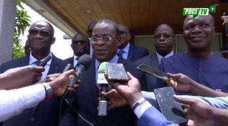PDCI-RDA:Les Présidents Pascal Affi N'guessan et Mabri Toikeusse ont échangé avec le Président Bédié