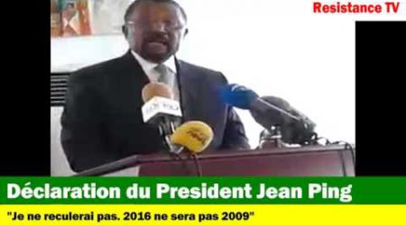 REACTION DE JEAN PING SUITE A LA DECISION DE LA COUR CONSTITUTIONNELLE