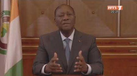 Lutte contre le Covid-19 : Le chef de l'Etat Alassane Ouattara s'adresse à la Nation