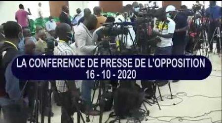Conférence de presse de l'opposition