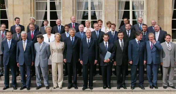 les ministres de jacques chirac